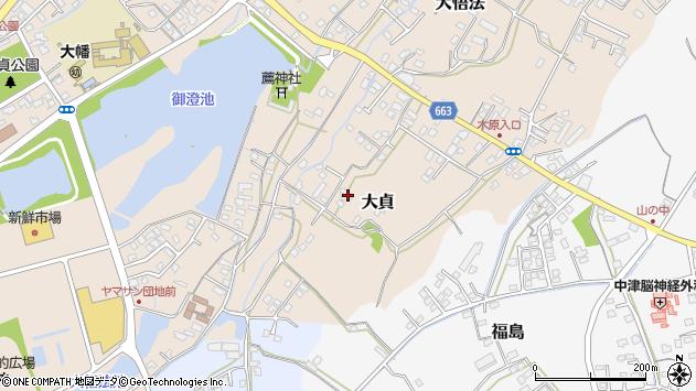 大分県中津市大貞78周辺の地図