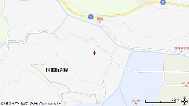 大分県国東市国東町岩屋2185周辺の地図
