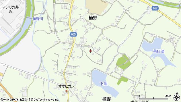 大分県中津市植野1492周辺の地図