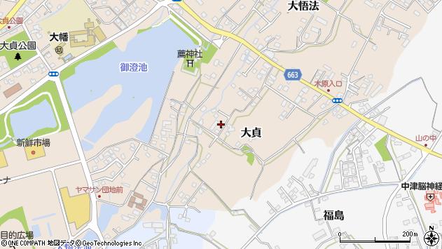 大分県中津市大貞74周辺の地図