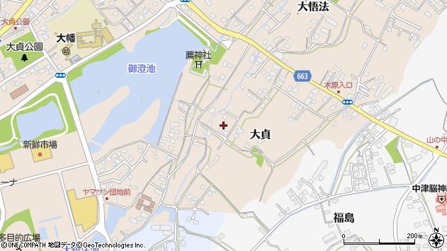 大分県中津市大貞67周辺の地図