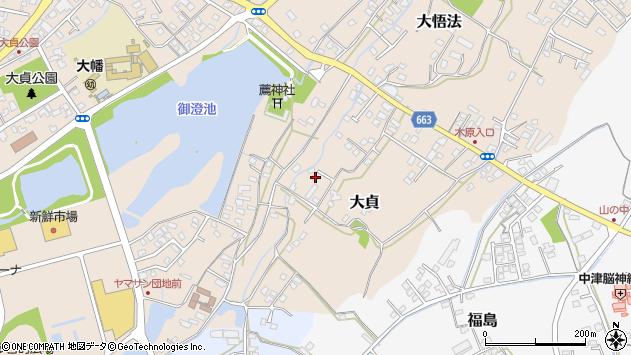 大分県中津市大貞77周辺の地図