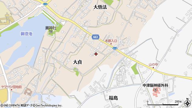 大分県中津市大貞128周辺の地図