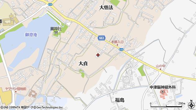 大分県中津市大貞125周辺の地図