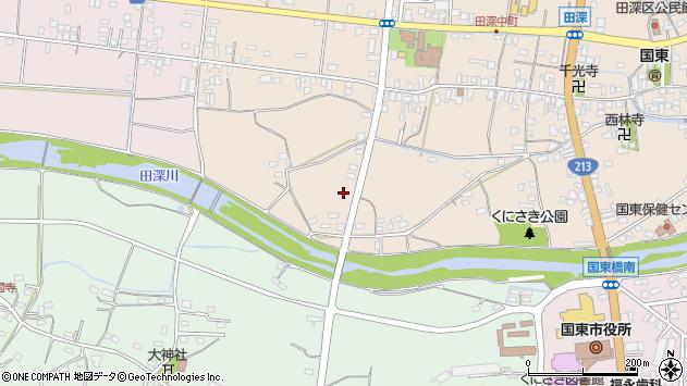 大分県国東市国東町田深147周辺の地図