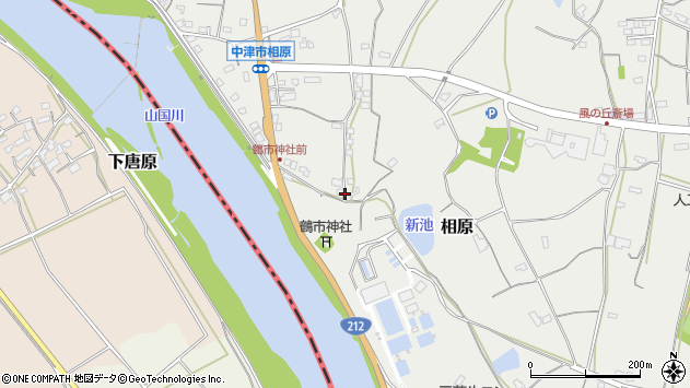 大分県中津市相原3236周辺の地図
