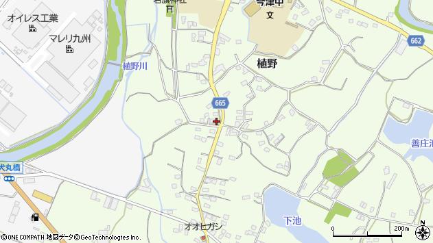 大分県中津市植野1442周辺の地図