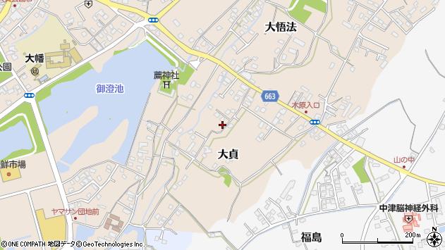 大分県中津市大貞109周辺の地図