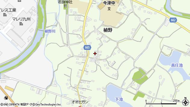 大分県中津市植野1448周辺の地図