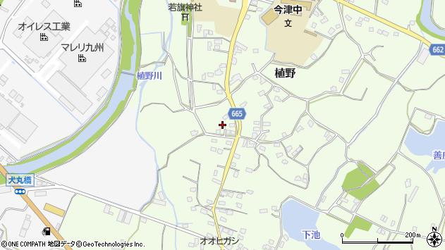 大分県中津市植野1403周辺の地図