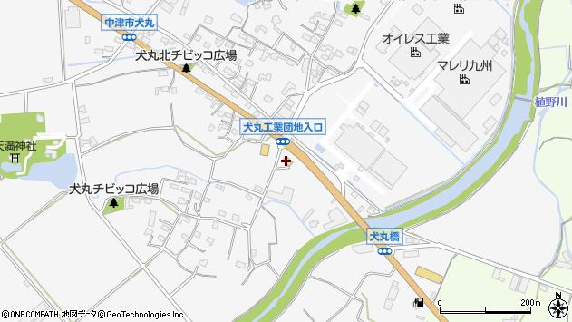 大分県中津市犬丸725周辺の地図
