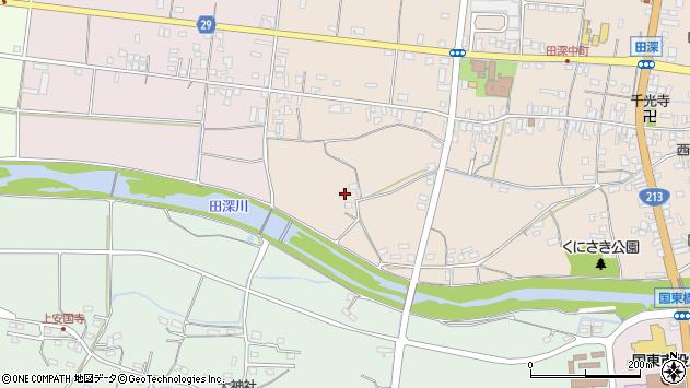 大分県国東市国東町田深23周辺の地図