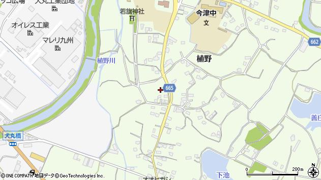 大分県中津市植野1407周辺の地図