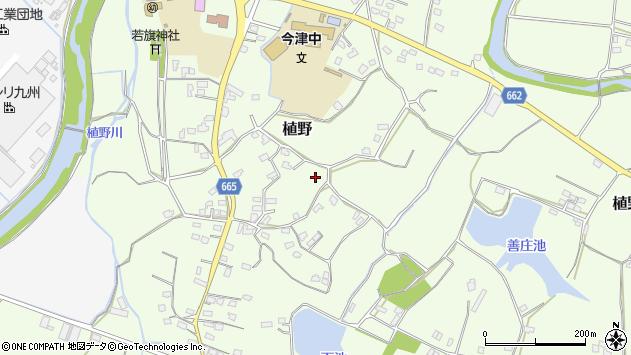 大分県中津市植野1465周辺の地図