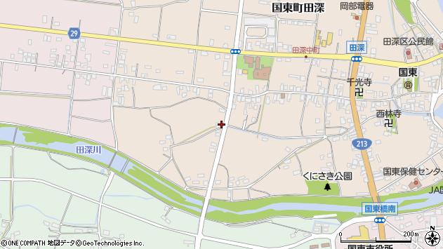 大分県国東市国東町田深76周辺の地図