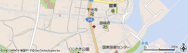 大分県国東市国東町田深412周辺の地図