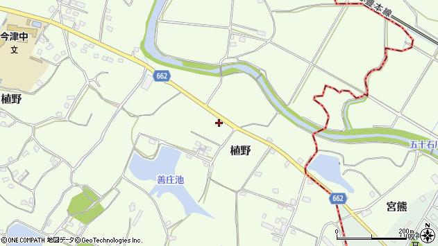 大分県中津市植野1681周辺の地図