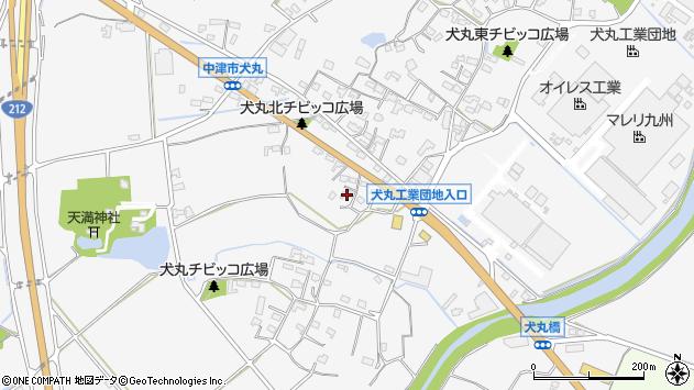 大分県中津市犬丸665周辺の地図
