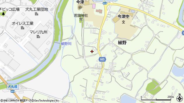大分県中津市植野1424周辺の地図