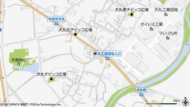 大分県中津市犬丸656周辺の地図