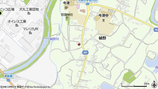 大分県中津市植野1423周辺の地図