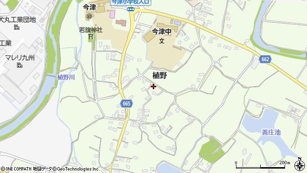 大分県中津市植野1140周辺の地図