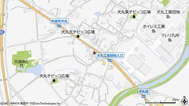 大分県中津市犬丸660周辺の地図