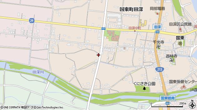 大分県国東市国東町田深74周辺の地図