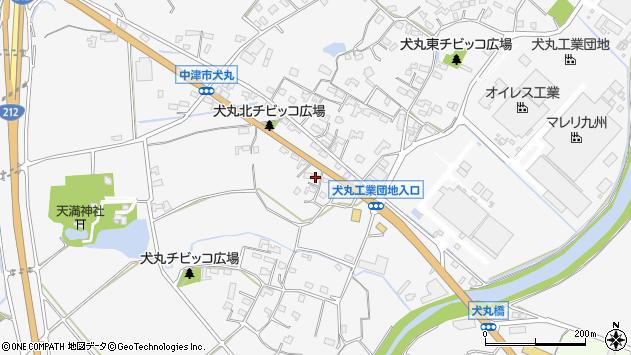 大分県中津市犬丸668周辺の地図