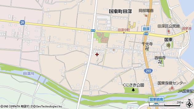 大分県国東市国東町田深606周辺の地図