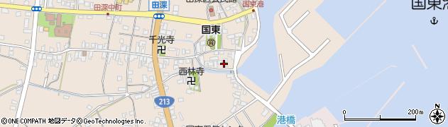 大分県国東市国東町田深1668周辺の地図