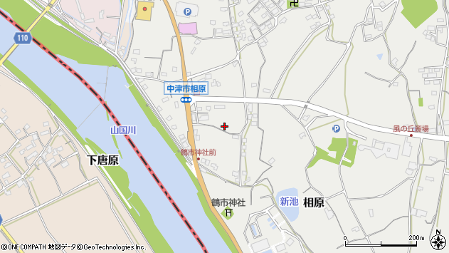 大分県中津市相原三口周辺の地図