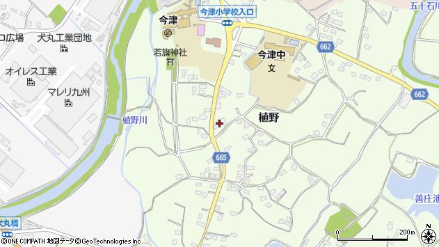 大分県中津市植野1936周辺の地図