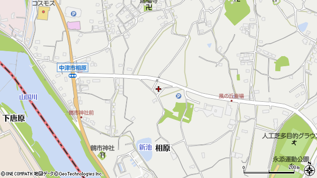 大分県中津市相原3507周辺の地図