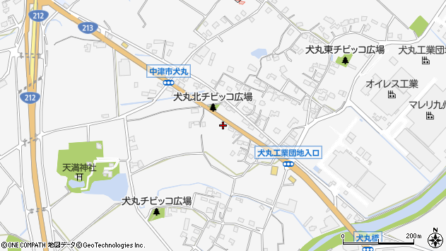 大分県中津市犬丸688周辺の地図