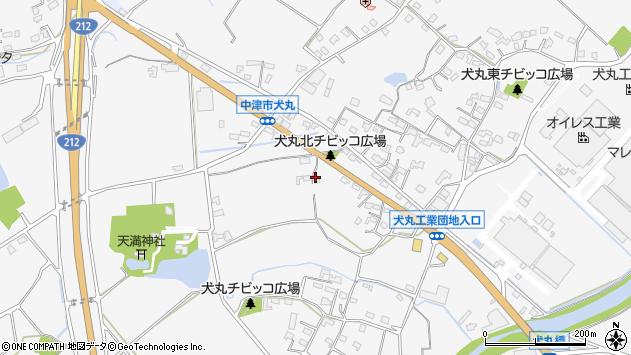 大分県中津市犬丸701周辺の地図
