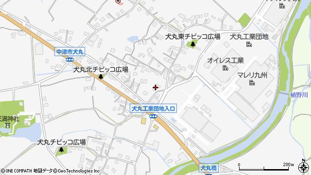 大分県中津市犬丸646周辺の地図