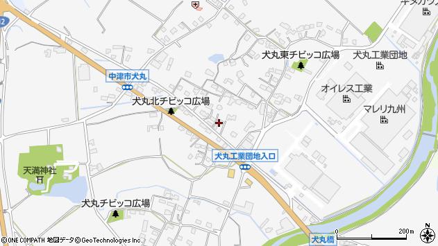 大分県中津市犬丸636周辺の地図