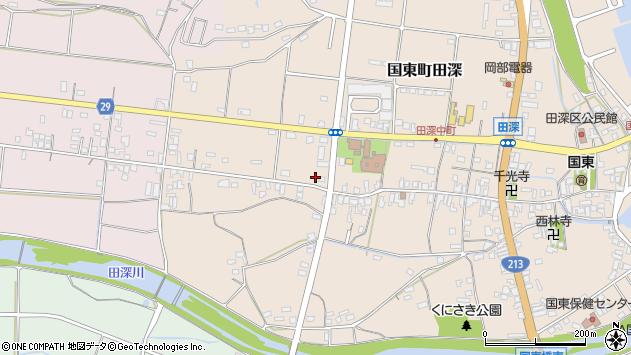 大分県国東市国東町田深673周辺の地図