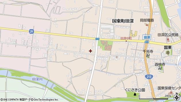 大分県国東市国東町田深677周辺の地図