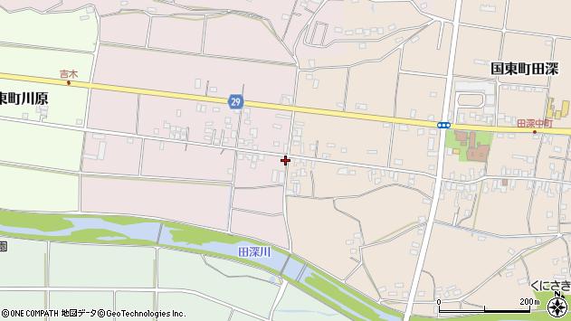 大分県国東市国東町北江233周辺の地図