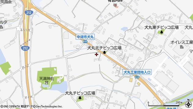 大分県中津市犬丸1466周辺の地図