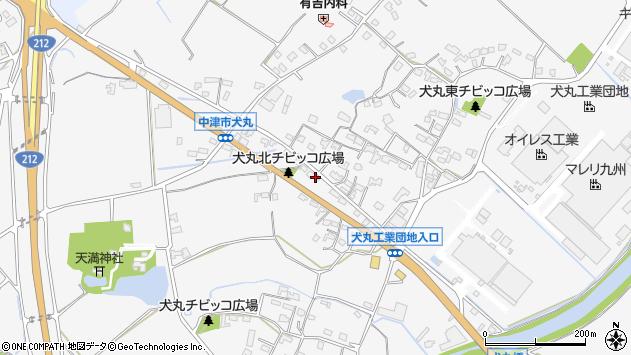 大分県中津市犬丸689周辺の地図