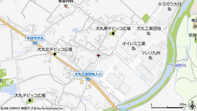 大分県中津市犬丸587周辺の地図