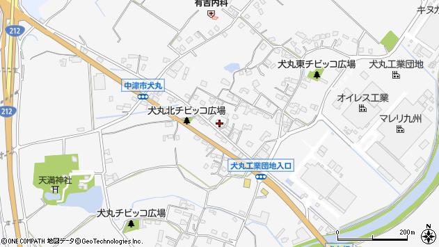 大分県中津市犬丸633周辺の地図