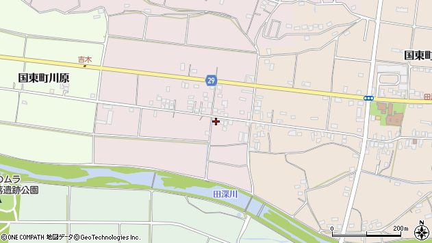 大分県国東市国東町北江207周辺の地図