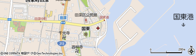 大分県国東市国東町田深1625周辺の地図