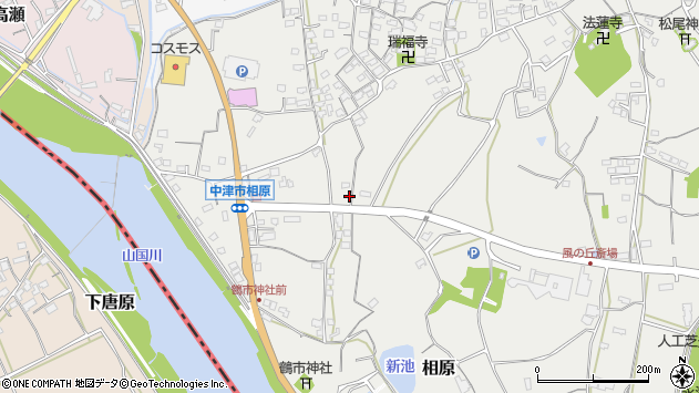 大分県中津市相原3457周辺の地図