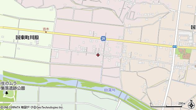 大分県国東市国東町北江204周辺の地図