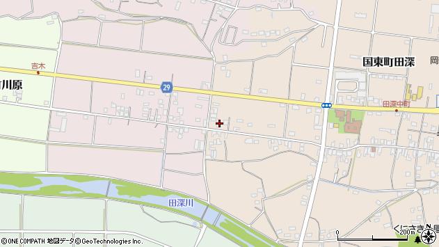 大分県国東市国東町田深735周辺の地図